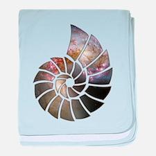 Cosmic Shell baby blanket