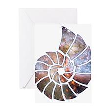 Cosmic Shell Greeting Card