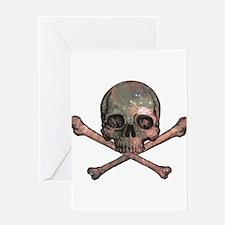 Skull and Bones - Cosmic Greeting Card