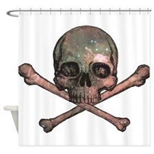 Skull and Bones - Cosmic Shower Curtain