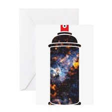 Spray Paint - Cosmic Greeting Card