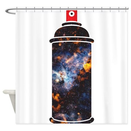 Spray Paint Cosmic Shower Curtain By Coolgiftsandgreatmerch