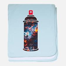 Spray Paint - Cosmic baby blanket