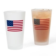US 2nd - 13 Star Drinking Glass