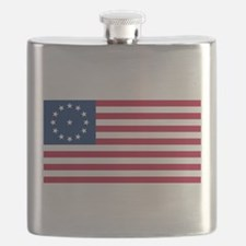 US 2nd - 13 Stars Cowpens Flag Flask