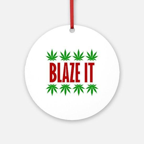 Blaze It Ornament (Round)