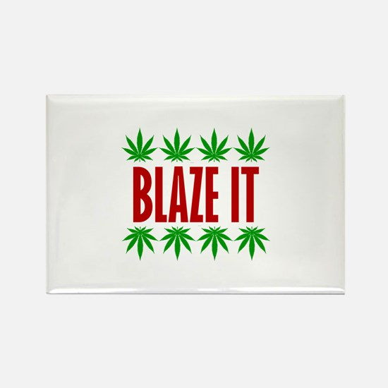 Blaze It Rectangle Magnet