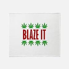 Blaze It Throw Blanket