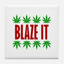 Blaze It Tile Coaster