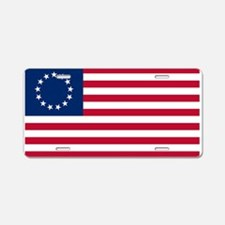 US 2nd - 13 Stars Betsy Ross Flag Aluminum License