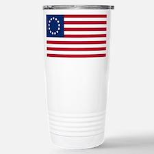 US 2nd - 13 Stars Betsy Ross Flag Travel Mug