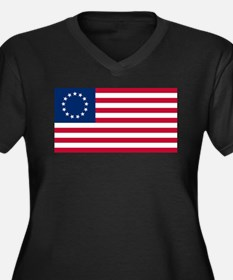 US 2nd - 13 Stars Betsy Ross Flag Plus Size T-Shir