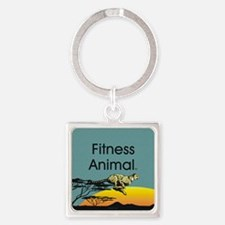 TOP Fitness Animal Square Keychain