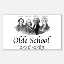 Olde School Rectangle Decal