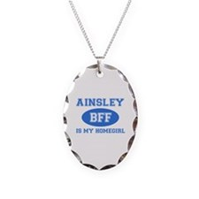 Ainsley is my homegirl Necklace Oval Charm