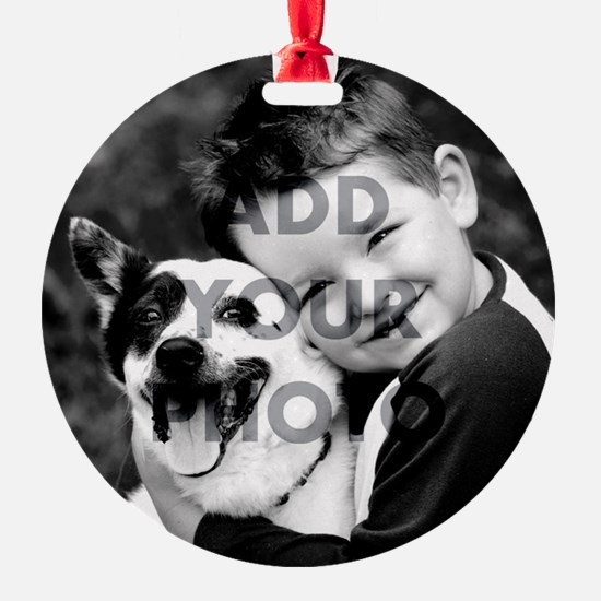 Add Your Own Photo Round Ornament