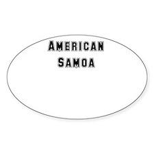 AMERICAN SAMOA Oval Decal