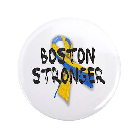 """Boston Stronger 3.5"""" Button"""