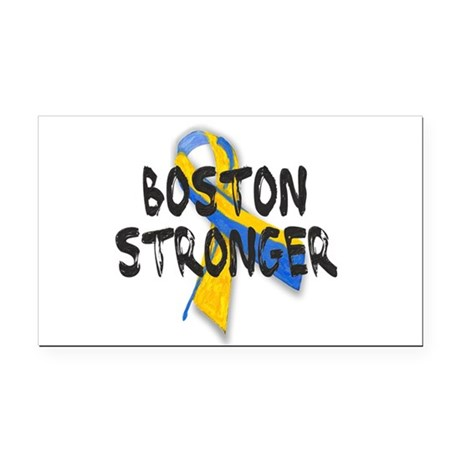 Boston Stronger Rectangle Car Magnet