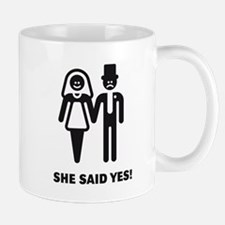 She said yes! (Wedding / Marriage) Mug