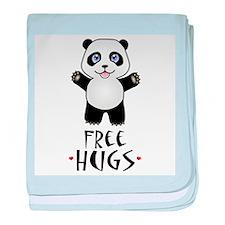 Free Panda Hugs baby blanket