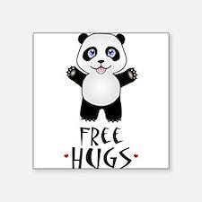 "Free Panda Hugs Square Sticker 3"" x 3"""