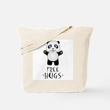 Free Panda Hugs Tote Bag