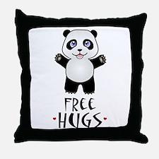 Free Panda Hugs Throw Pillow