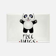 Free Panda Hugs Rectangle Magnet