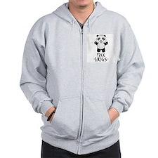 Free Panda Hugs Zip Hoodie