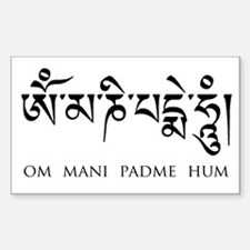om mani padme hum sanskrit Decal