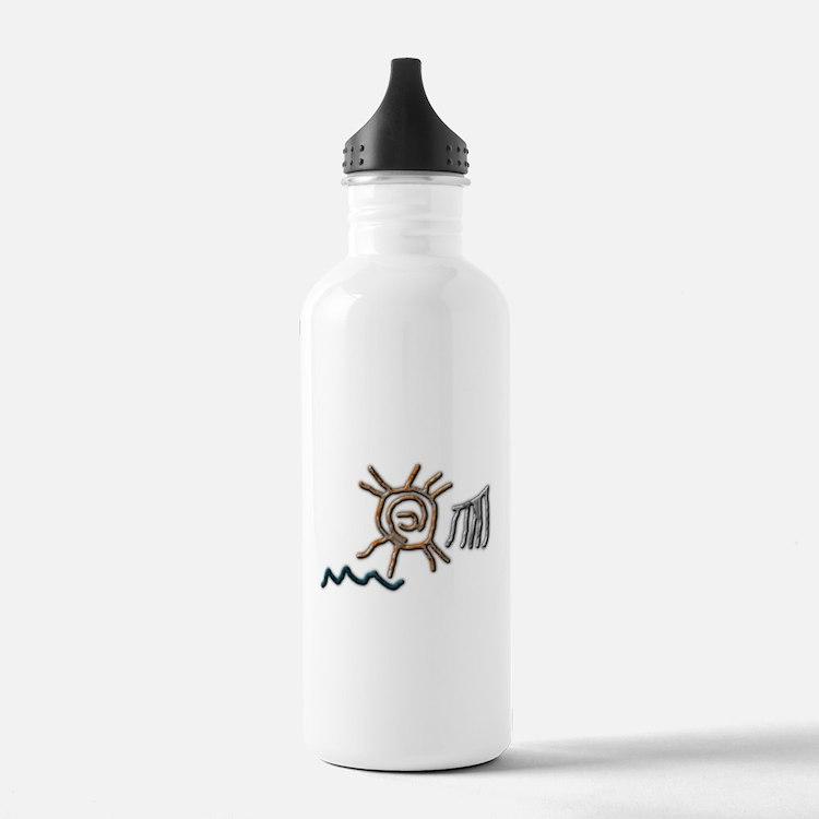Sun Petroglyph Water Bottle