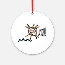 Sun Petroglyph Ornament (Round)