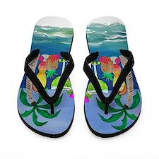 Tropical Drinks Flip Flops