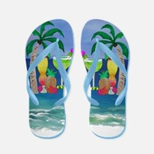 Tropical Drinks Flip Flops