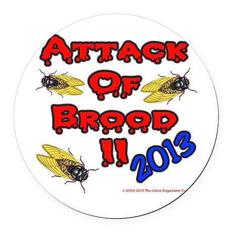 Scary Brood II Cicada Round Car Magnet