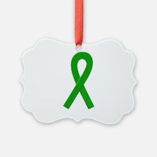 Green Awareness Ribbon Ornament