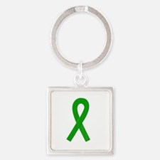 Green Awareness Ribbon Keychains