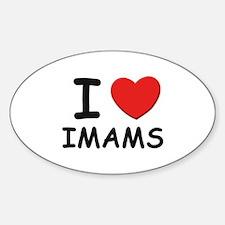 I love imams Oval Decal