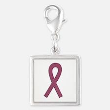 Burgundy Awareness Ribbon Charms