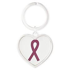 Burgundy Awareness Ribbon Keychains
