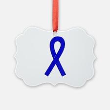 Blue Awareness Ribbon Ornament