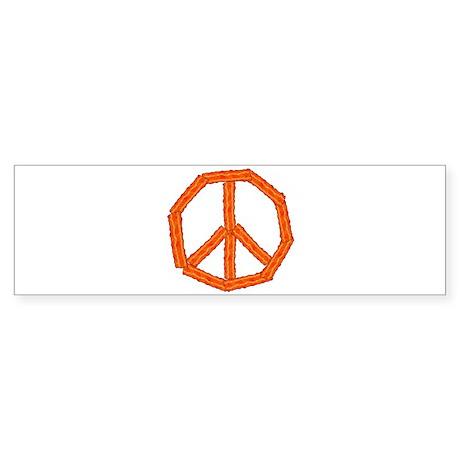 Bacon Peace Sign Bumper Sticker