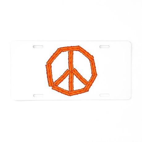 Bacon Peace Sign Aluminum License Plate
