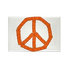 Bacon Peace Sign Rectangle Magnet