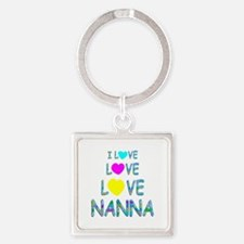 Love Love Nanna Square Keychain