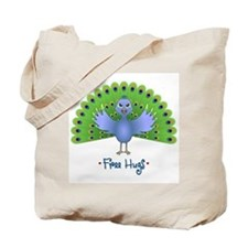 Free Peacock Hugs Tote Bag