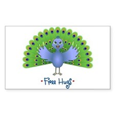Free Peacock Hugs Decal