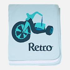 Big Wheel Retro baby blanket