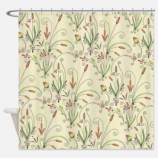 Natures Warmth Pattern Shower Curtain